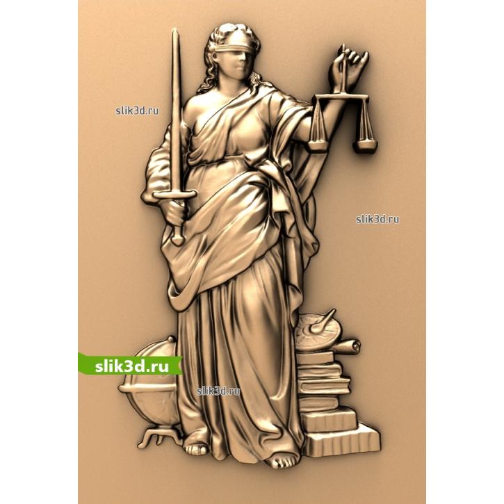 3D STL Богиня Правосудия - Фемида