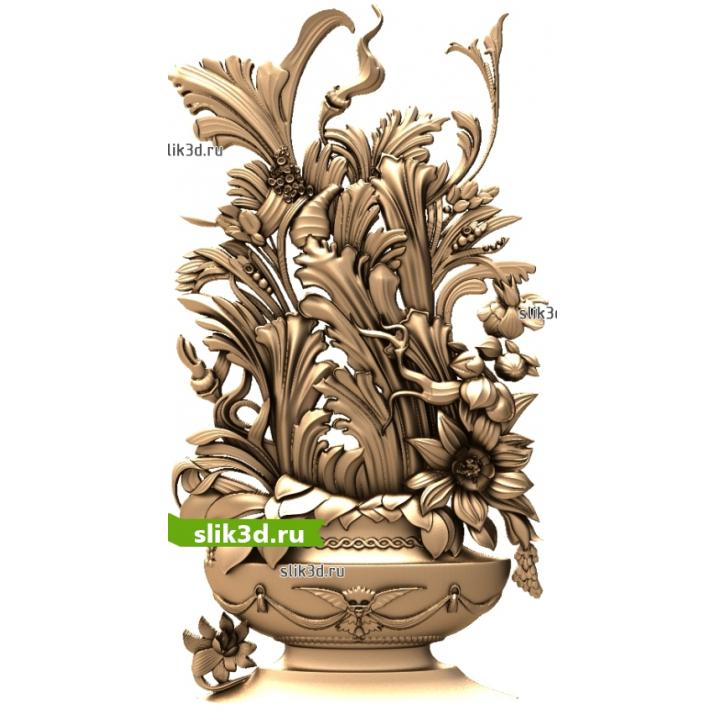 3D STL Цветы №14