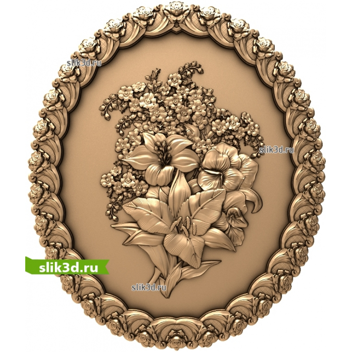 3D STL Цветы №15