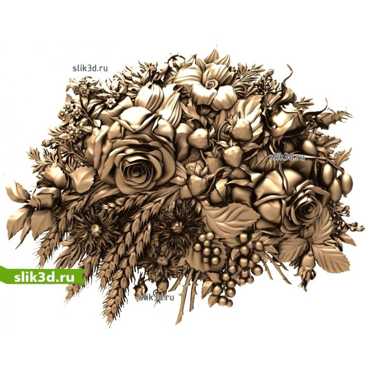 3D STL Цветы №19