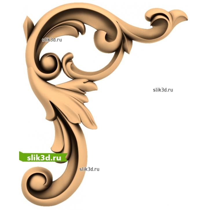 3D STL Угловой Декор №22