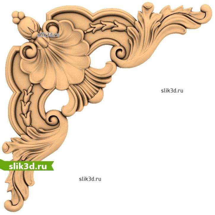 3D STL Угловой Декор №23