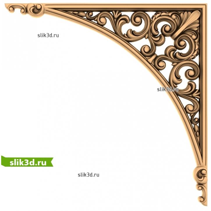 3D STL Угловой Декор №24