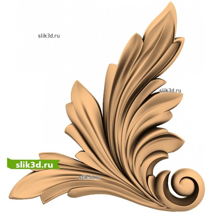 3D STL Угловой Декор №26