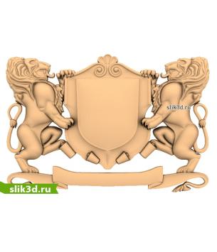 Герб со львами