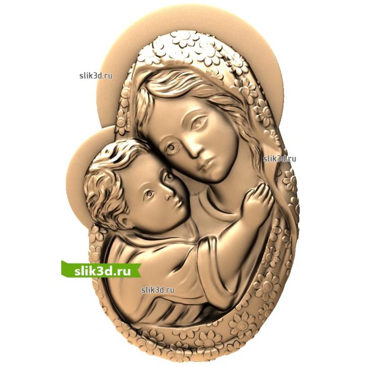 3D STL Богородица №14
