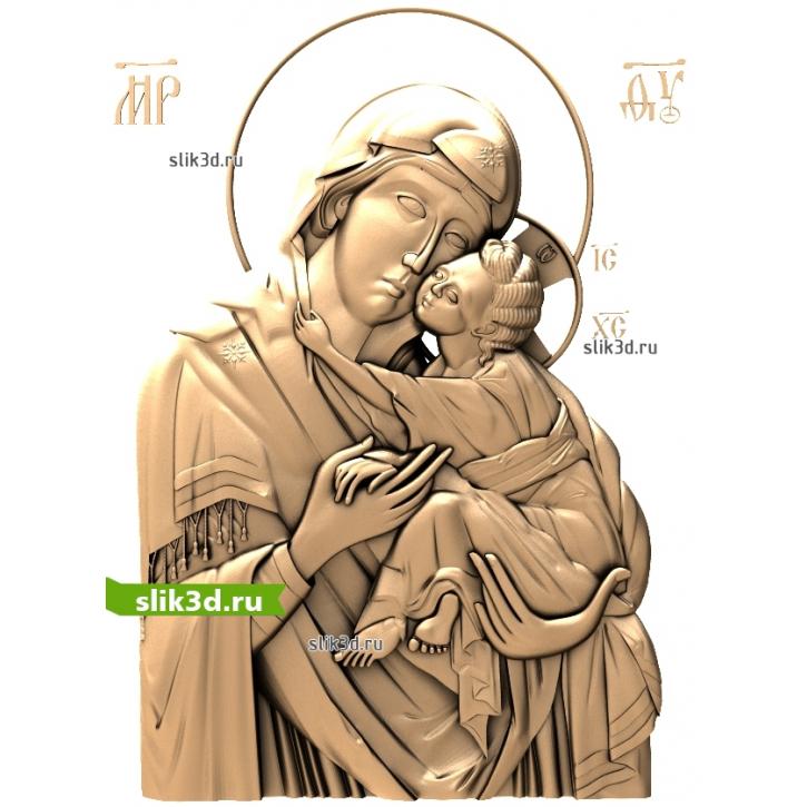 3D STL Богородица Песчанская
