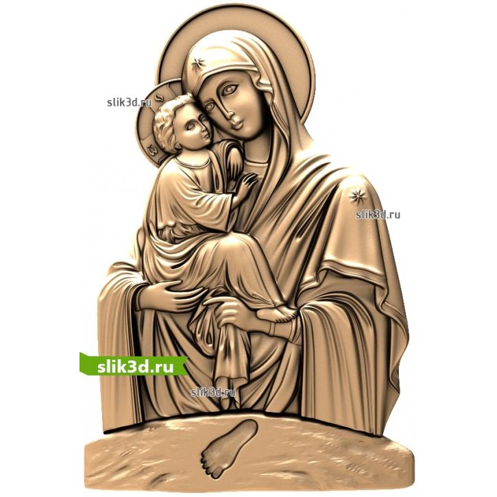 3D STL Божья Матерь Почаевская