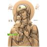 3D STL Божья Матерь Федоровская №12
