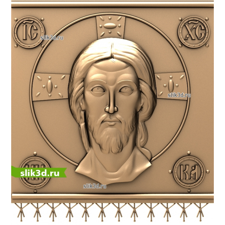 3D STL Спас Нерукотворный №17