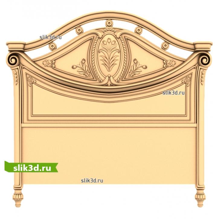 3D STL Кровать №23 (Спинка №12)