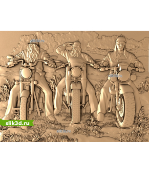 Богатыри на мотоциклах