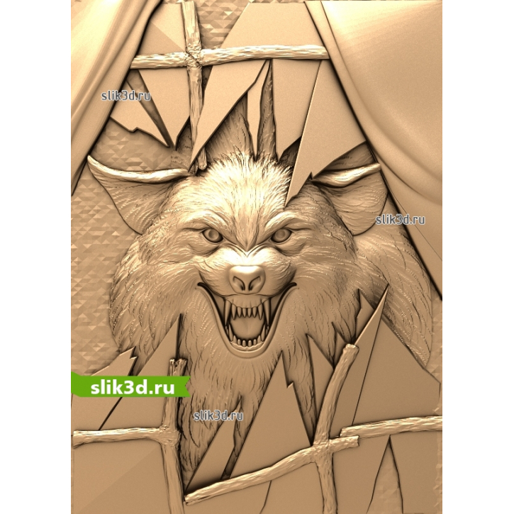 3D STL Волк №13