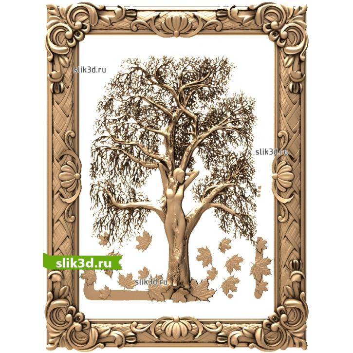3D STL Девушка-дерево