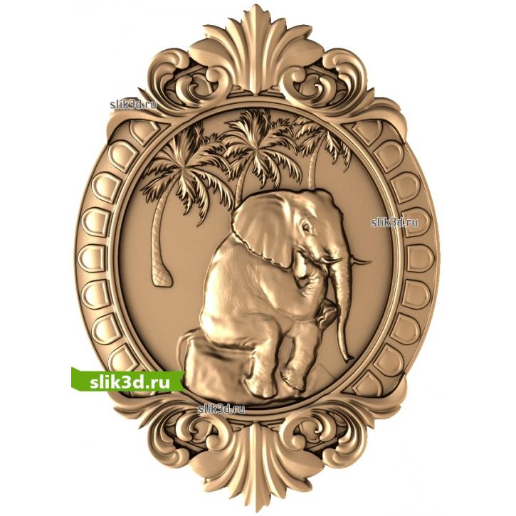 3D STL Слон №13