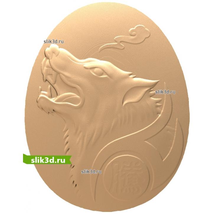 3D STL Волк