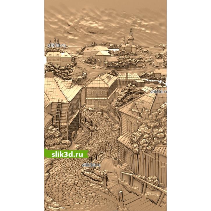 3D STL Город №13