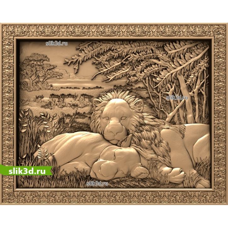 3D STL Львы На Отдыхе