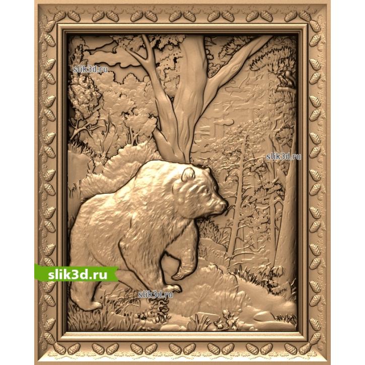 3D STL Медведь В Лесу