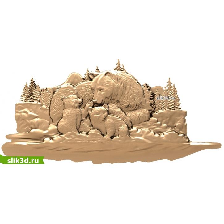 3D STL Медвежья Семья