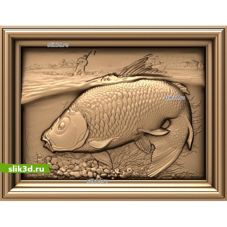 3D STL Рыбак И Карп