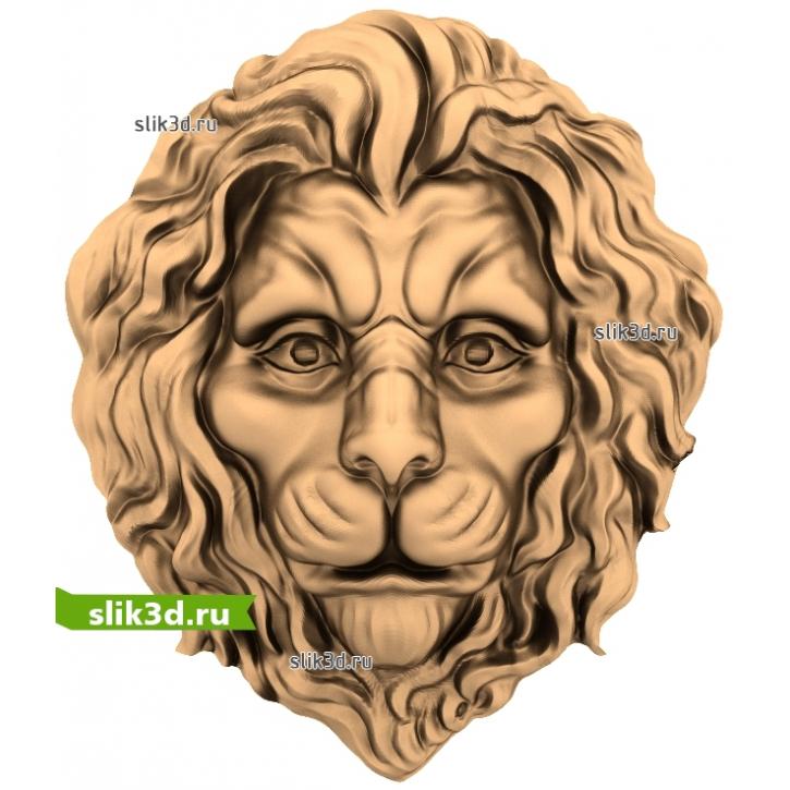 3D STL Голова Льва