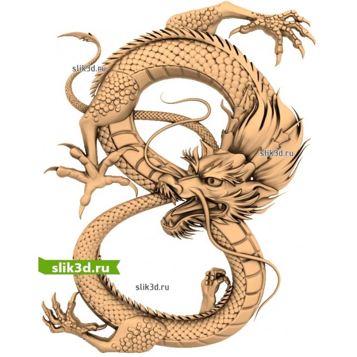 3D STL Дракон