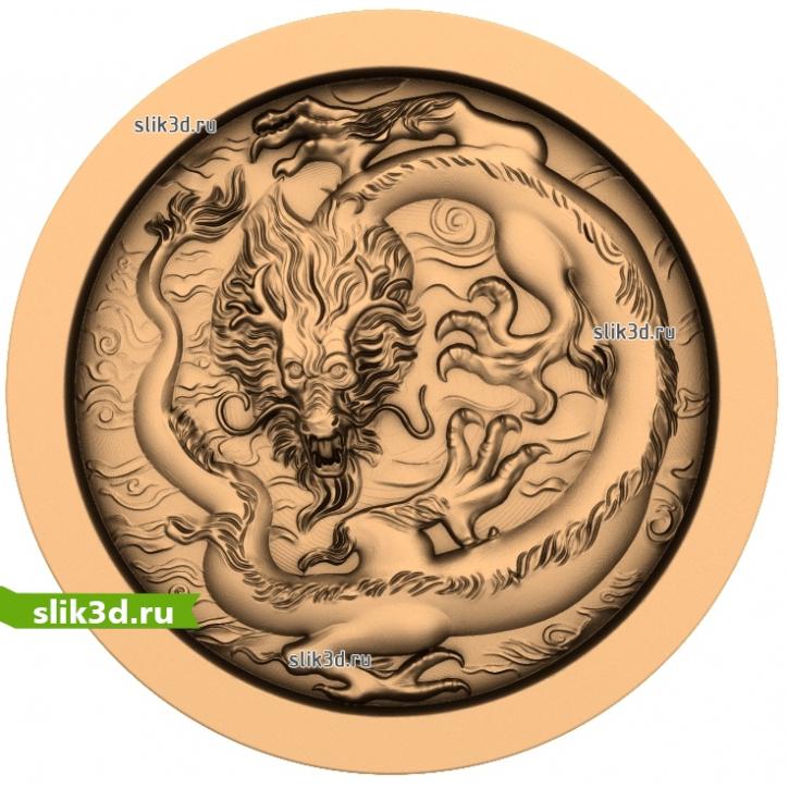 3D STL Китайский Дракон